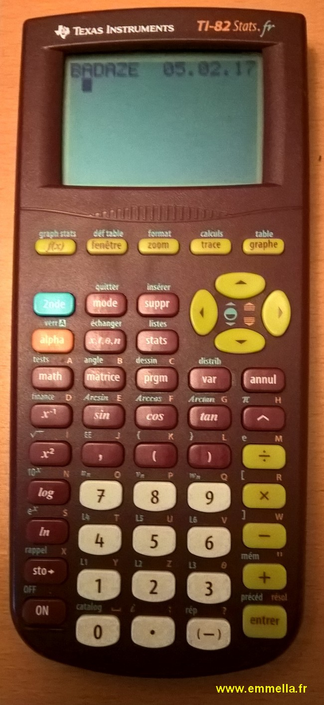 Texas Instruments TI SR 82 Stats.fr