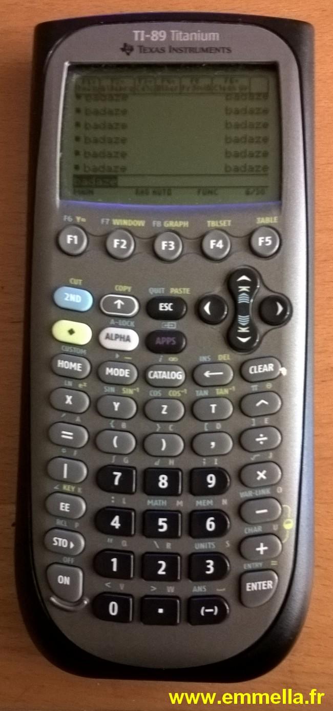 Texas Instruments TI 89 Titanium
