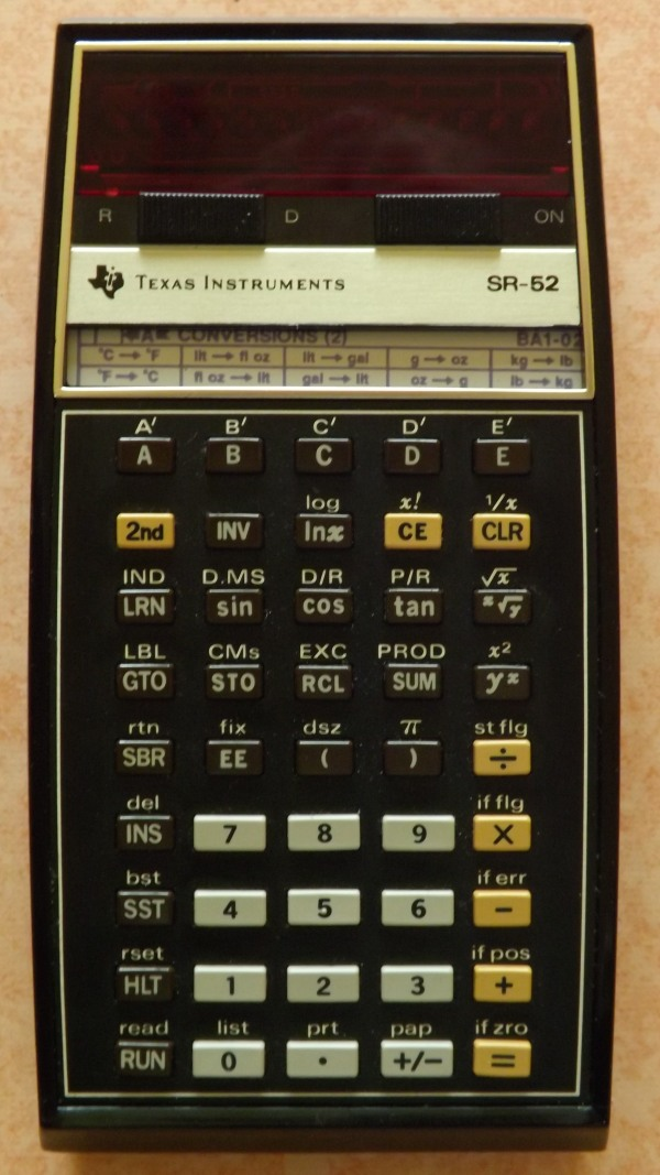 Texas instruments SR 52