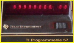 Texas Instruments TI 57 (LED)