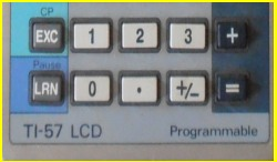 Texas Instruments TI 57 LCD - TI 57 II