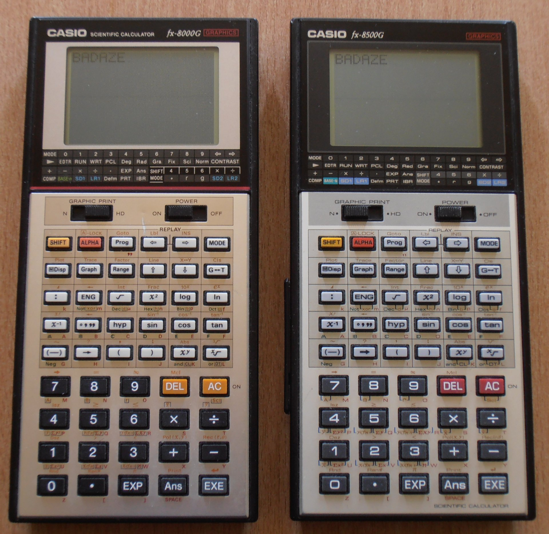 Casio FX-8000G et FX-8500G