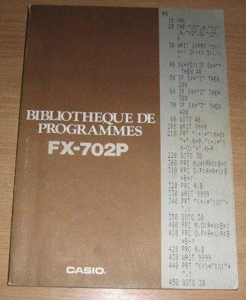 Librairie de programmes FX-702P