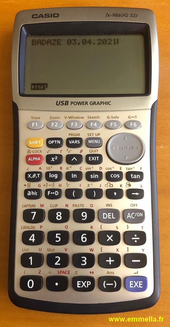 Casio FX 9860G-SD
