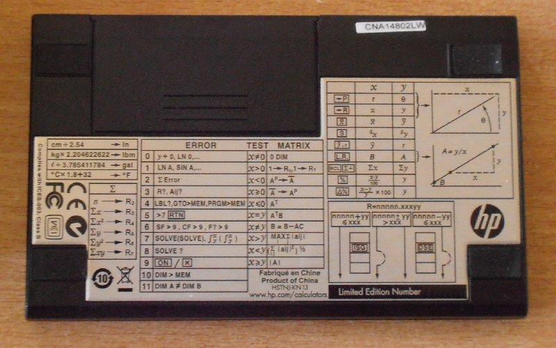 Hewlett Packard HP-15C LE
