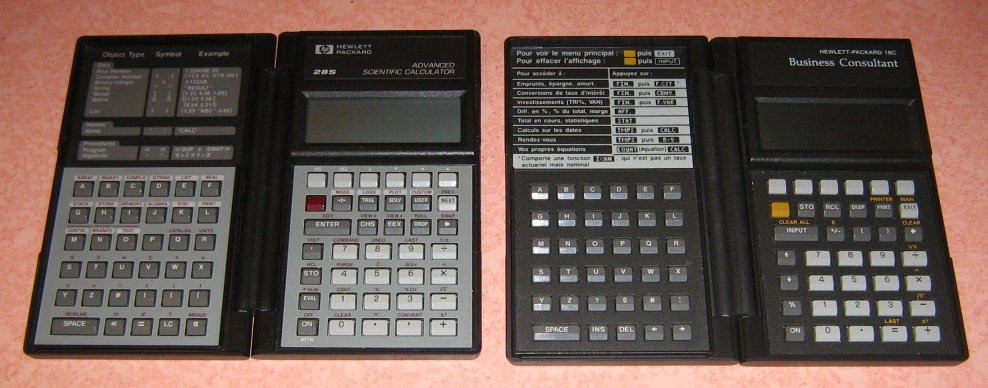 HP 28S et 18C