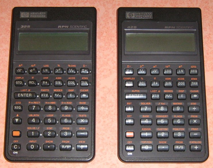 HP 32 S et 42 S