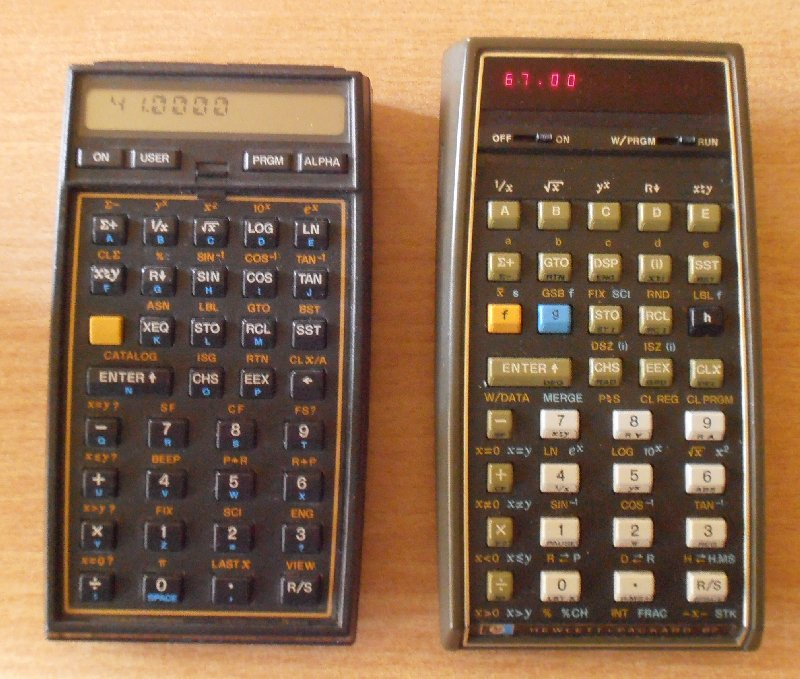HP 67 et HP41 CV