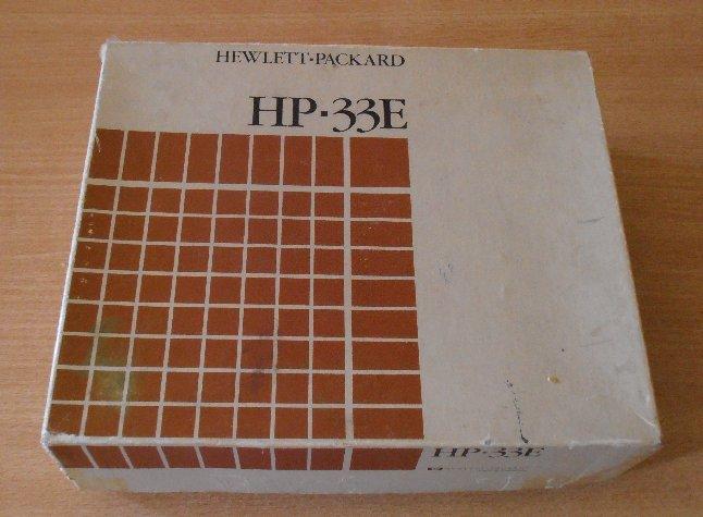 Boîte HP 33E
