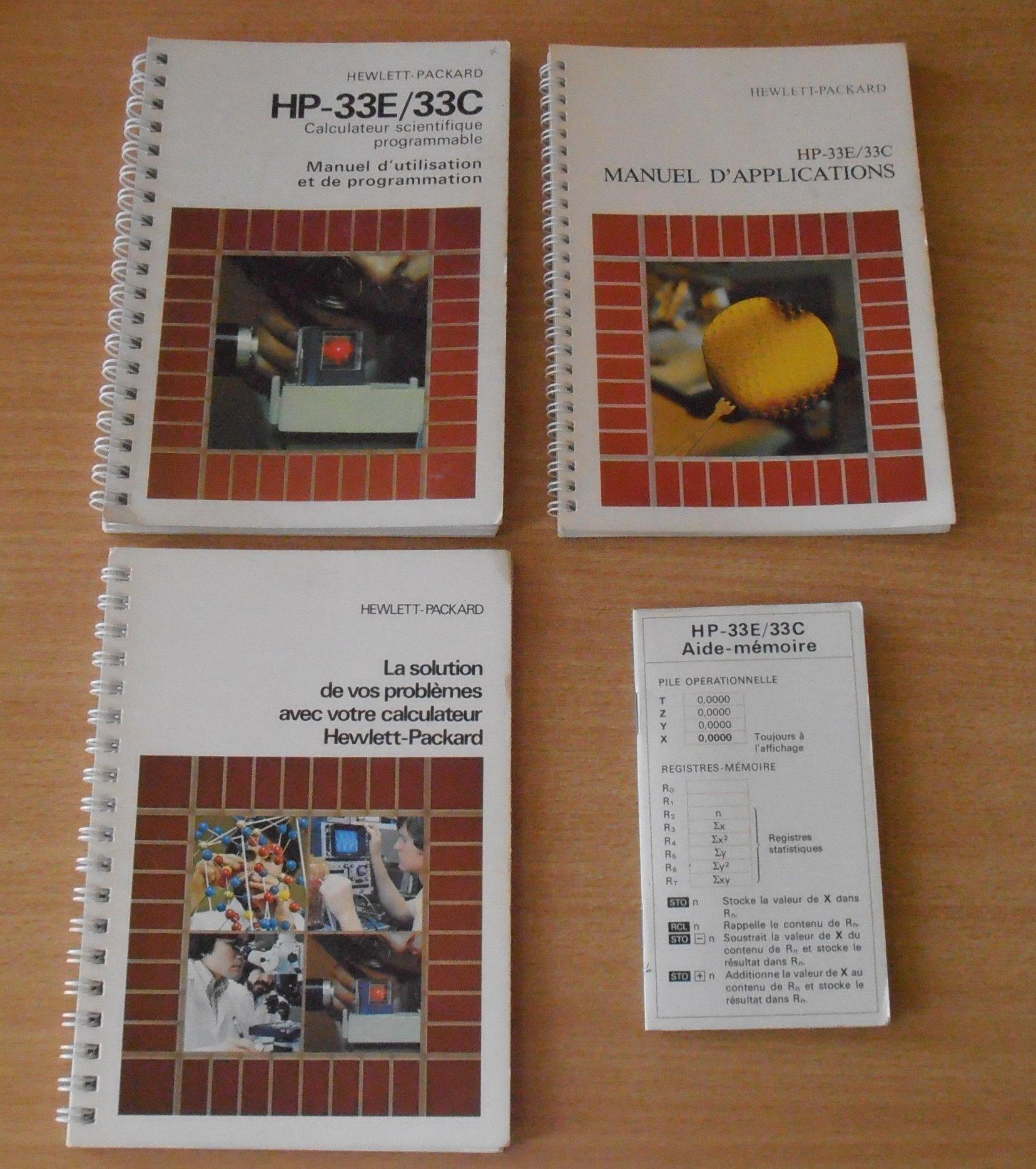 Documentation HP 33E