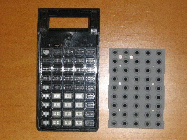 TI 60 - clavier vu de dedans