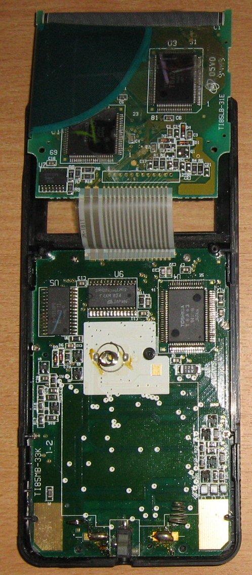 TI 85 - verso carte-mère avec écran déployé