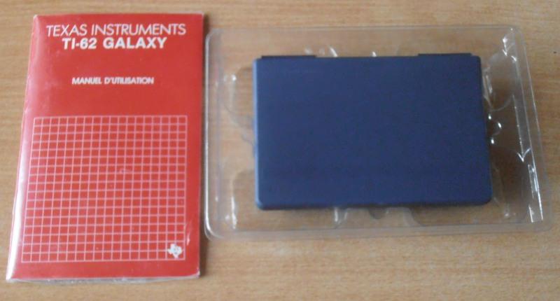 Contenu boîte TI 62 Galaxy