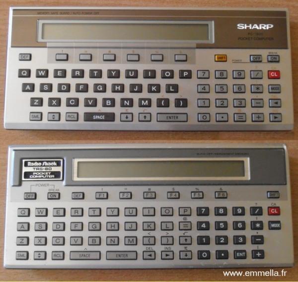 Différences esthétiques entre PC2 et PC-1500