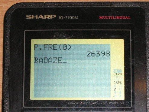 Sharp IQ-7100M - Détail affichage
