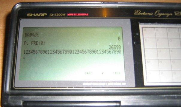 Détail affichage Sharp IQ-8300M