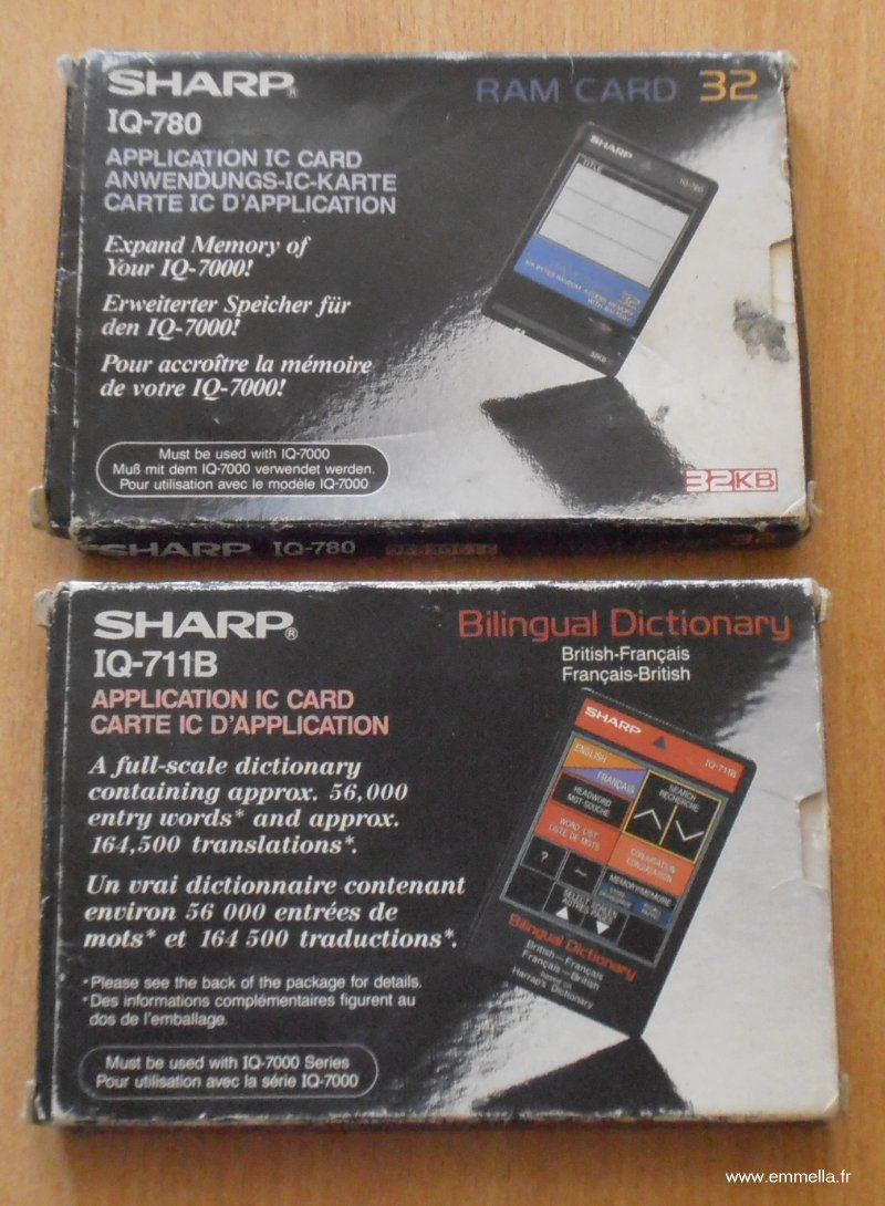 CARTES EXTENSIONS POUR SHARP IQ