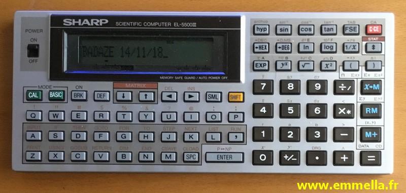 Sharp EL-5500 III