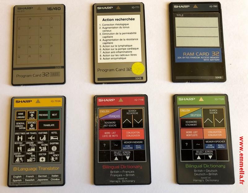 Cartes pour Sharp IQ 7xxx et 8xxx