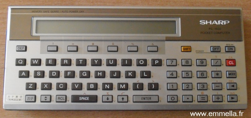 Sharp PC-1500 Japonais