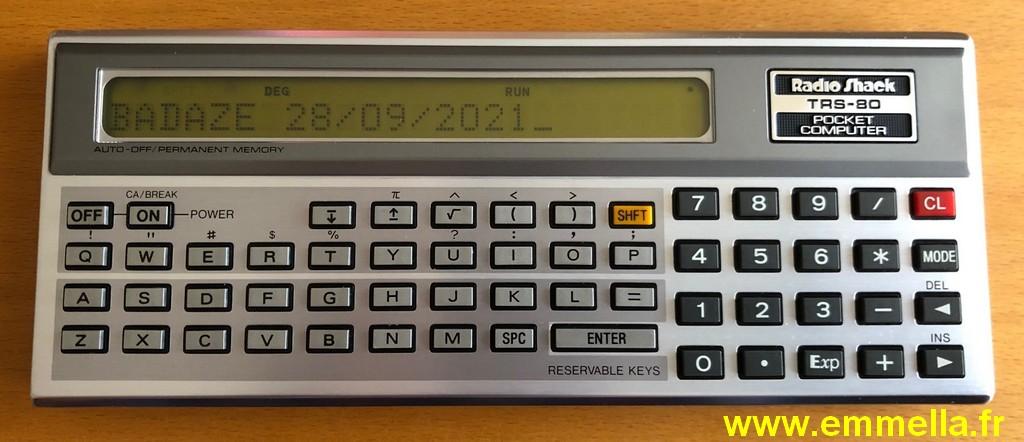 RADIO SHACK TRS 80 TANDY PC-1