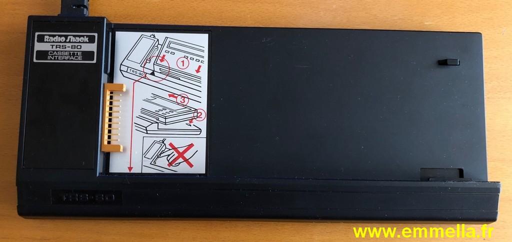 Interface cassette TANDY PC-1