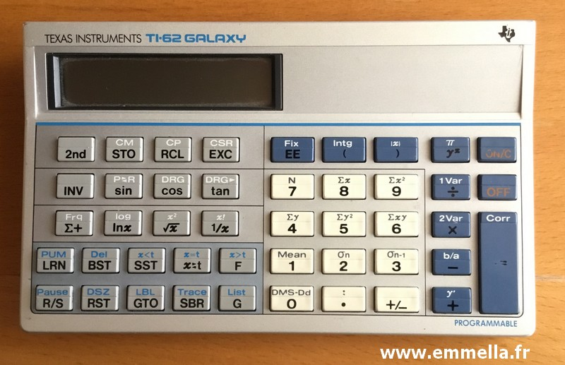 Texas Instruments TI 62 GALAXY