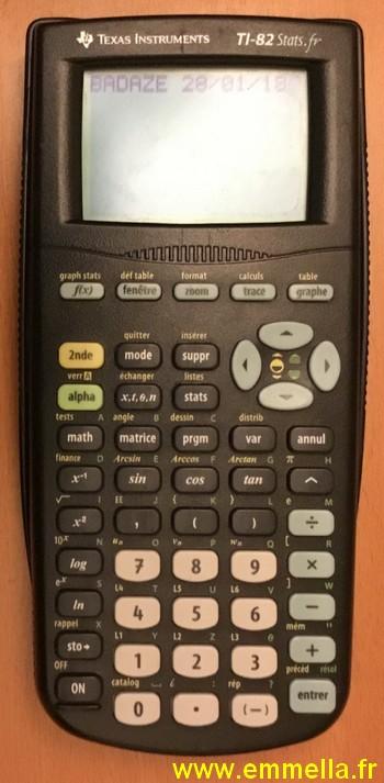 Texas Instruments TI 82 Stats .fr