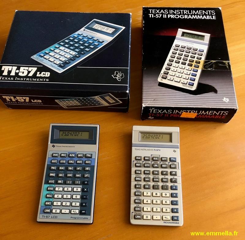 Texas Instruments TI 57 II et LCD en boîtes