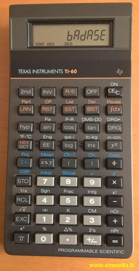 Texas Instruments TI 60