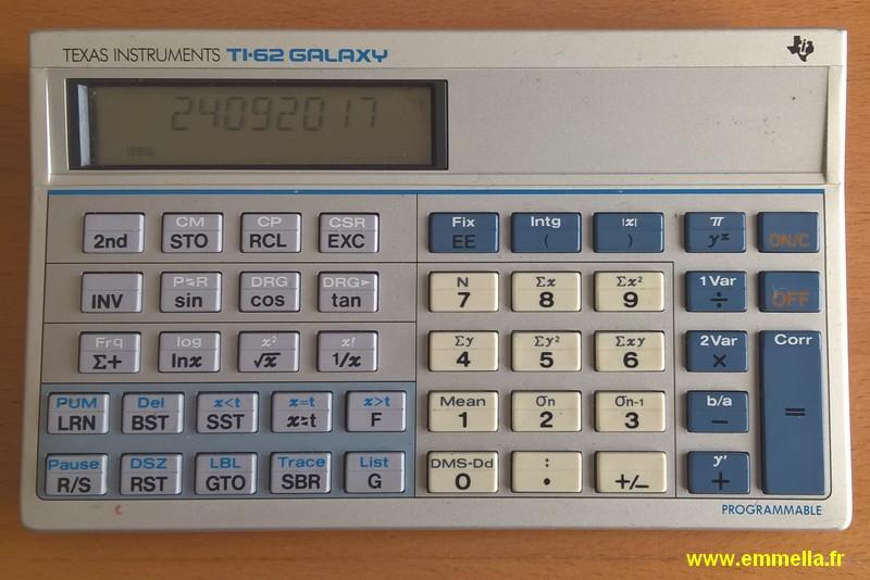 Texas Instruments TI 62 Galaxy