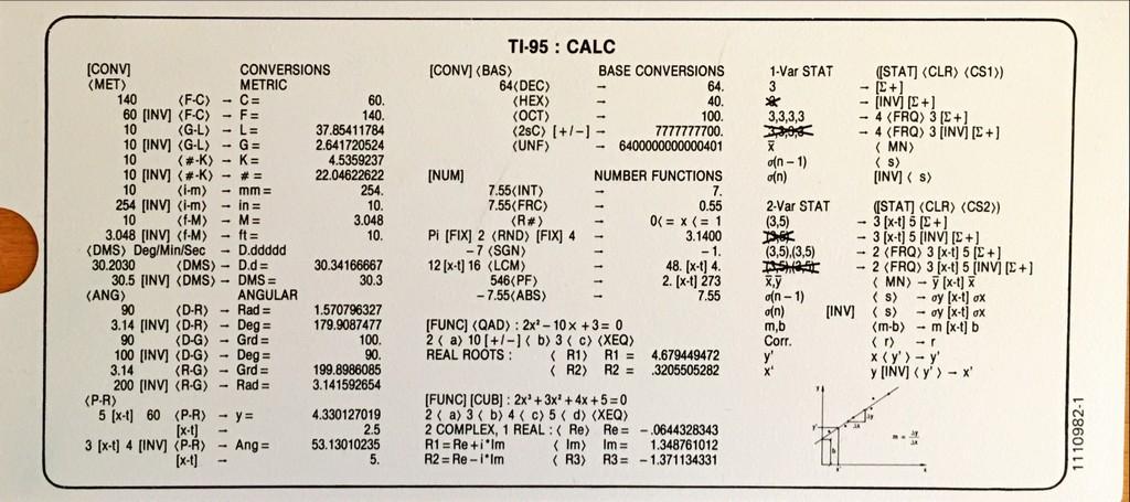 Texas Instruments TI 95 PROCALC