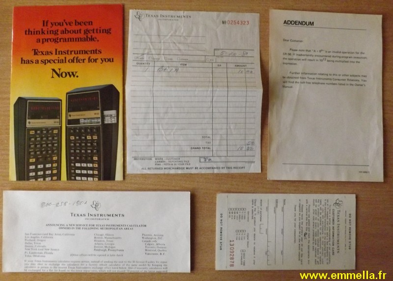 Texas Instruments TI SR 56