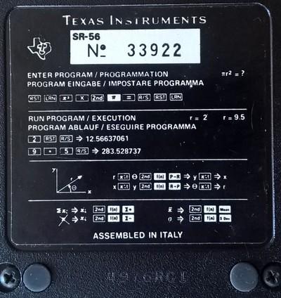 TI SR 56 plaque arrière