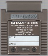 Sharp CE-1600M