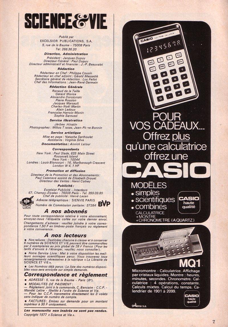 Offrez une Casio