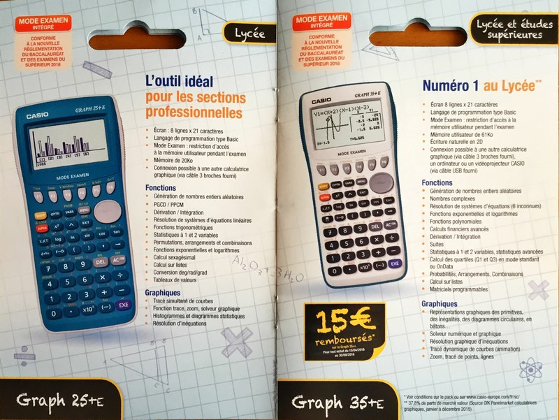 Catalogue Casio 2016-2017