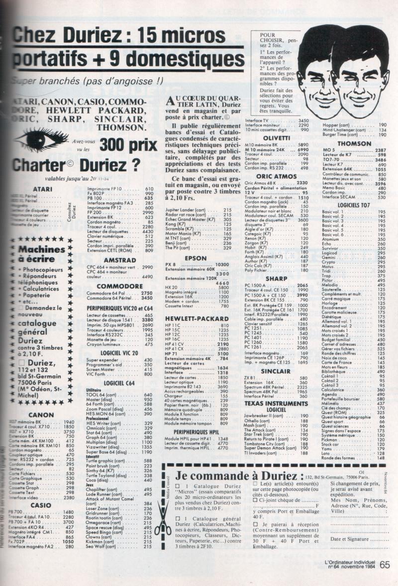 Duriez - Novembre 1984