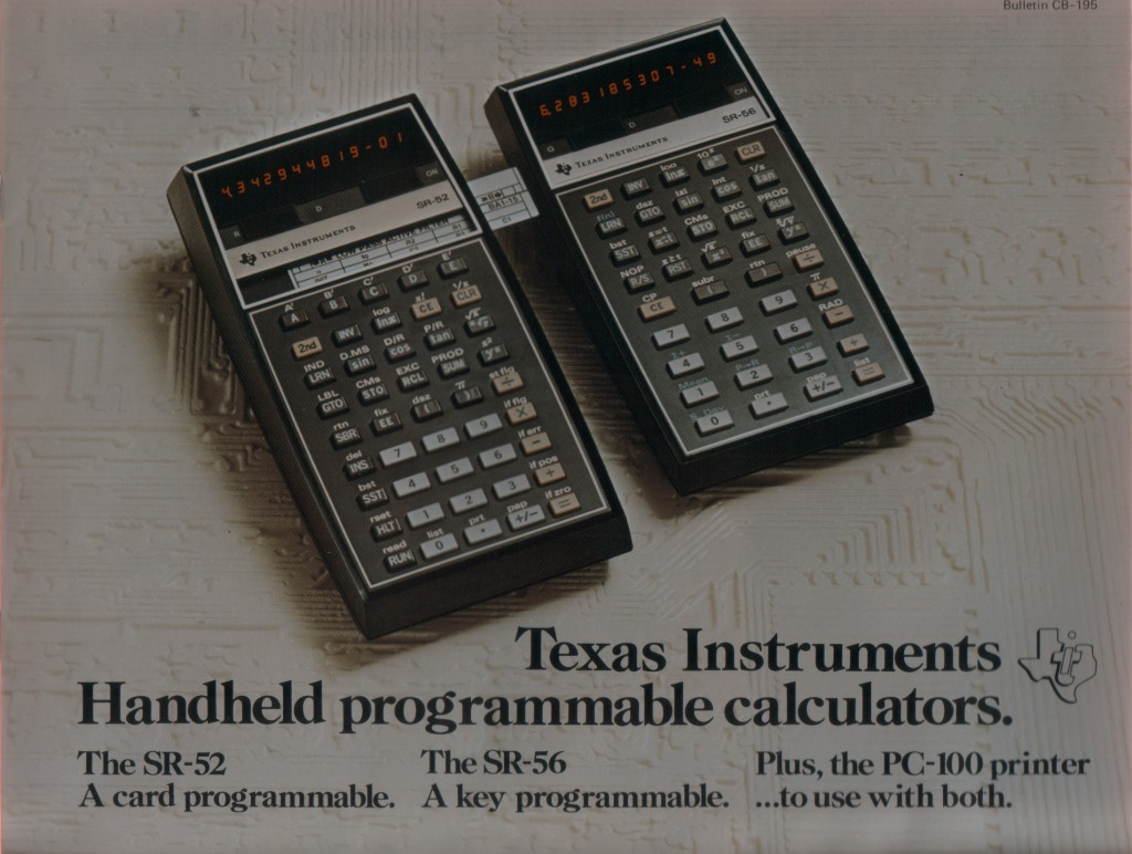 Texas Instruments Handheld programmable calculators