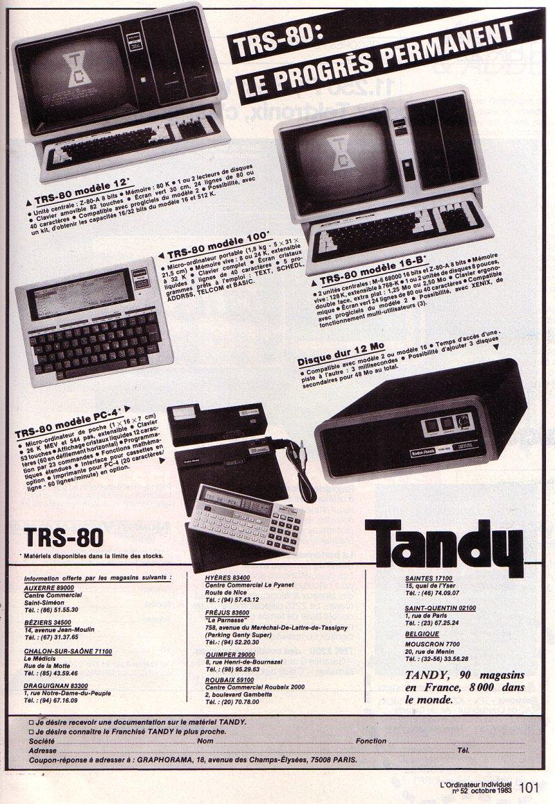 Tandy PC-4 et Modèle 100