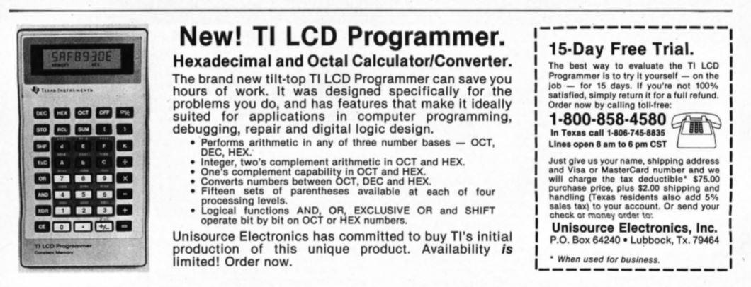 TI Programmer LCD