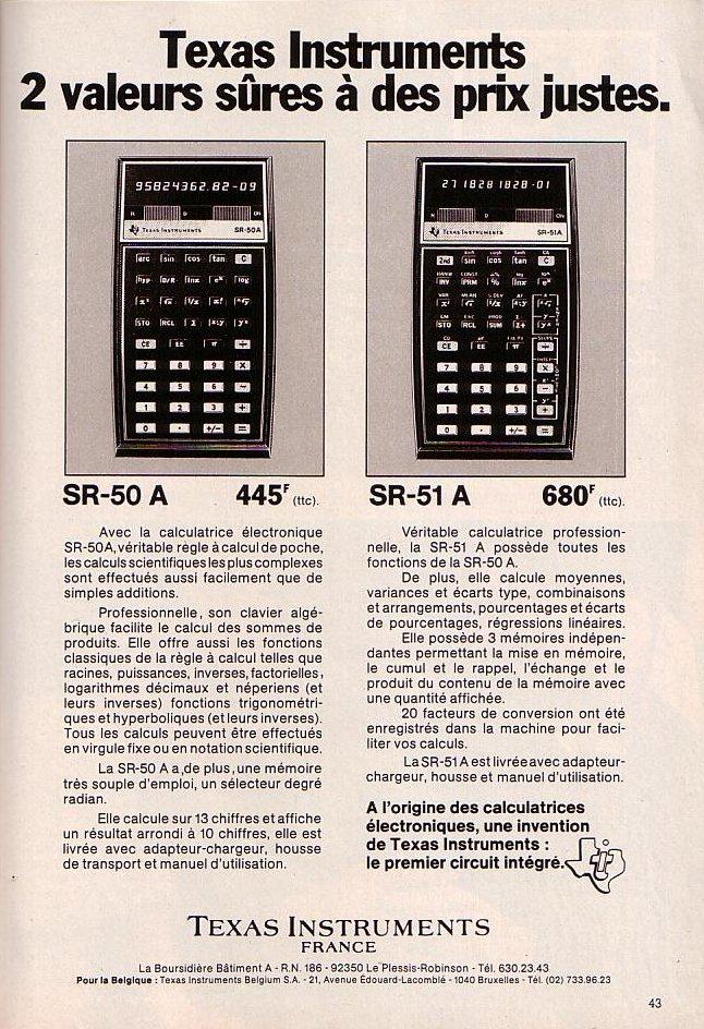 TI SR 50A & SR 51A