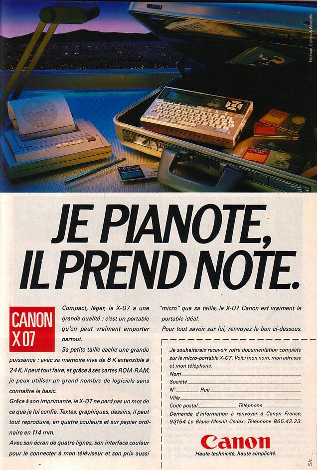 Canon X07
