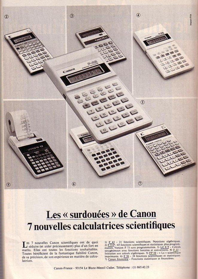 Canon Calculatrices scientifiques
