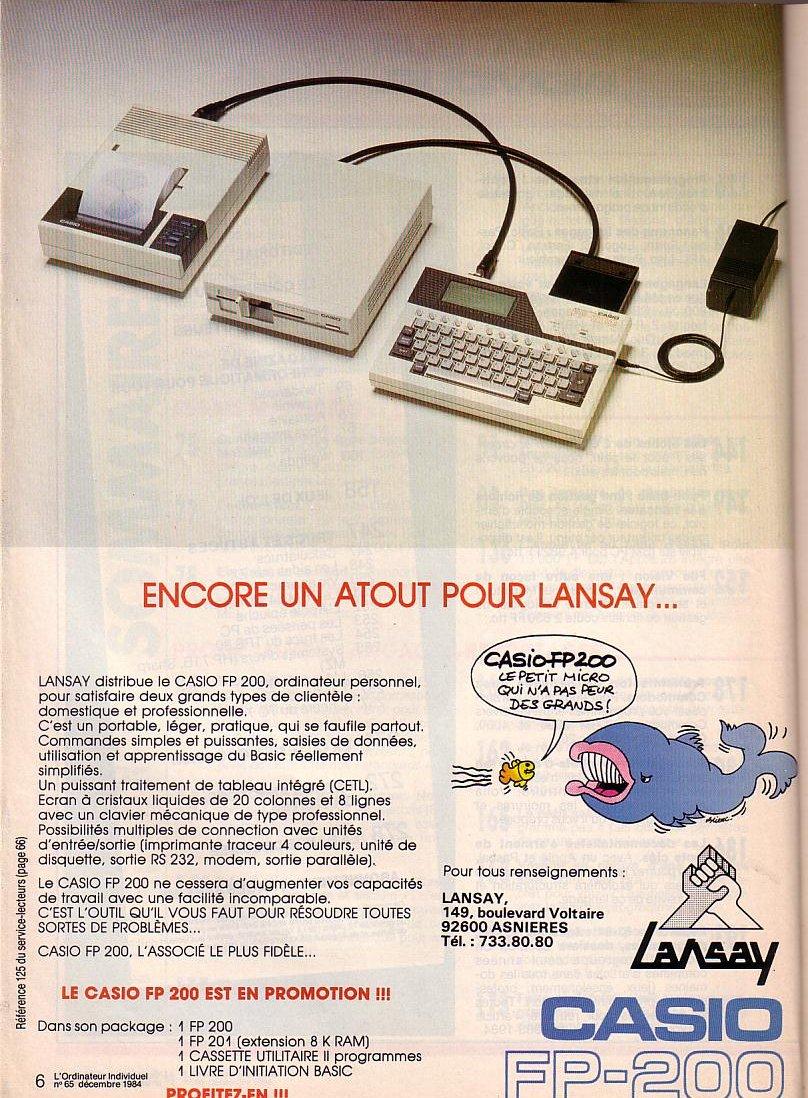 Casio FP 200