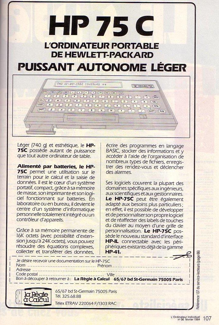 HP 75C