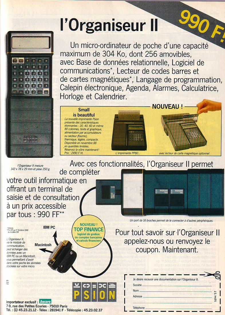 Psion - Organiseur 2