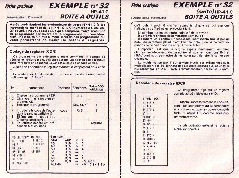 Boîte à outils HP 41C