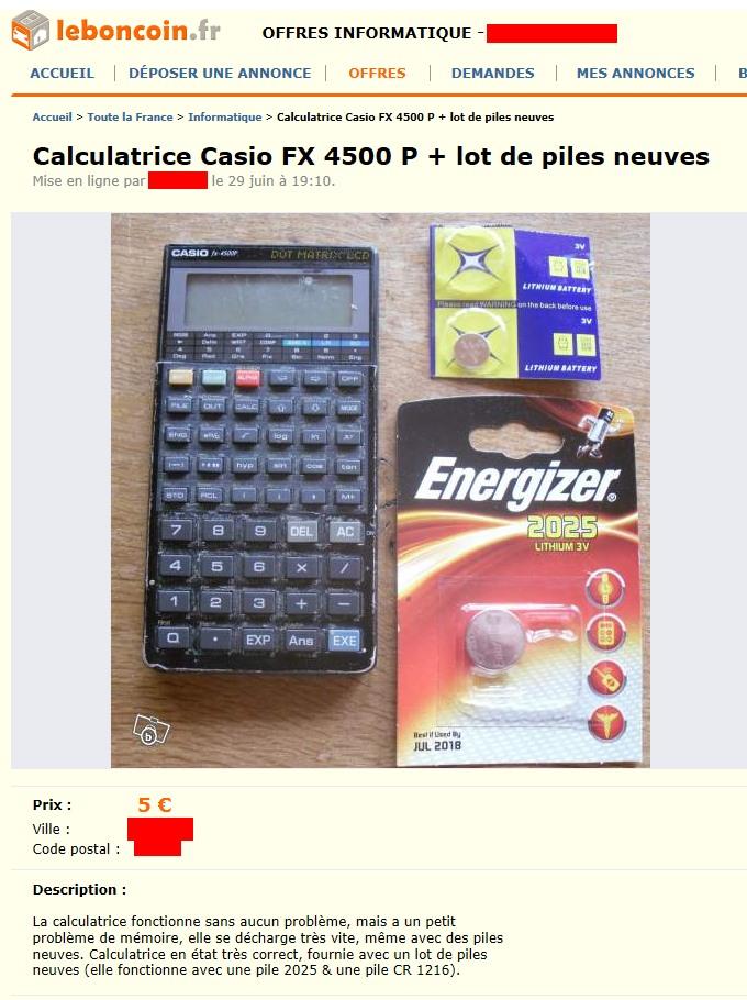 Casio FX 4500P