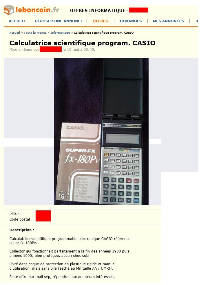 Casio FX 180